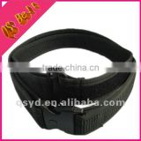 wrapped side double layer military webbing belt with hook and loop fastener