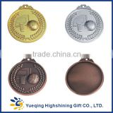 57# Good style gold silver bronze plated zinc alloy sports award souvenir factory price round metal basketball medal