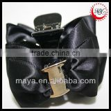 Fashion black hair bow hair claw clip(approved by BV)