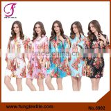 Fung 3002 Wedding Bridesmaid Floral Satin Robes                                                                         Quality Choice