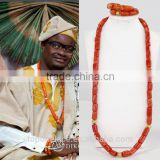 african long jewelry set/nigerian coral beads jewelry set wedding for men                                                                         Quality Choice