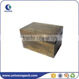 Black and brown color solid wood storage box for clothes