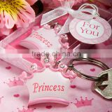 Pink - blue crown themed princess metal keychain for baby showers                                                                         Quality Choice