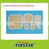 Good absorbency hydrocolloid wound dressing with several sizes