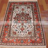 red bound beige handmade silk persian rug/carpet guangzhou whosale handmade silk tapestry carpet rugs
