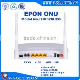 4LAN+2POTS+WiFi+USB EPON ONU Home Gateway Support IPTV/VoIP/PPPoE for FTTH Smart Home Solution