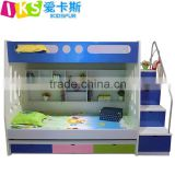Foshan supplier smart children bunk bed furniture, blue bunk beds with desk