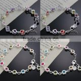 Fashion Rhinestone Glass Beads bracelets,Crystal Rhinestone bracelets real silver plated, brass Crystal Rhinestone Bracelet