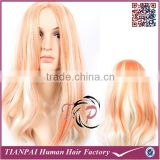 Top Quality High Temperature Fiber wholesale ombre multi-color mono synthetic wig