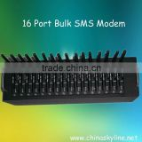 low cost 16 port bulk sms terminal with chip, gsm sms modem/ bulk sms sender/multiport gsm modem