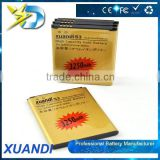 3.8V 3250mah li-ion gold mobile phone Battery for samsung galaxy S3