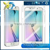 Best quality tempered glass screen protector for s6 for edge with gift package