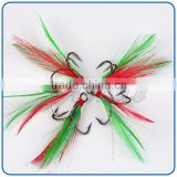 Original design red feather less harm the fish circle hooks fishing