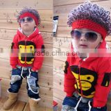 Fashionable rock style crazy hats for kids