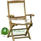 Folding Arm Chair Batyline - Teak Garden Wood Furniture Indonesia