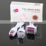 Derma Roller Supreme 3 in 1 Skin Care Kit FREE Travel Case 3 Roller Heads Made of Titanium Alloy for Face AND Body