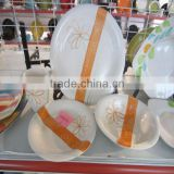 2013 fashion ceramic handpainted Circle Design kitchen crockery stoneware dinnerware sets