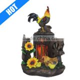 handmade painted rooster electric wholesale oil lamp burner for sale