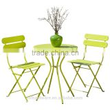 3 Piece Bistro Set Folding Patio Table and Chairs, green