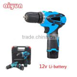 Portable 12V Electric Mini Cordless Screwdrivers 180N.M Torque Li-ion Battery Rechargeable Cordless Screwdrivers