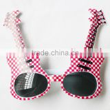 3170401-19 Pink guitar sunglasses musical Instruments glasses personality cool sunglasses