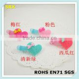 Wholesale customized baby pretty plastic hair clip