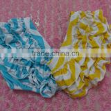 Baby Chevron Clothes Wholesale Baby Bloomers Ruffle Diaper Cover Newborn Baby Cotton Chevron Ruffle Bloomers