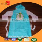 High quality pure blue cotton kids hotel bathrobe