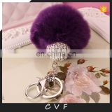 2016 newest style handmade real fur ball pendant bag charm for fashion