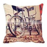 Hot Selling Bicycle 3D Cushion Pillow Cover No Inner Filler No Core Square Home Decor futon sofa