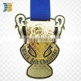 custom gold plating Taekwondo black belt challenge medal trophy