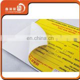Customized adhesive sticker colorful paper sticker
