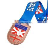 Cheap wholesale souvenir gold award karate sports medal custom made