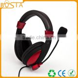 Cheap stereo good quality factory best price gaming headphones with bendable microphone