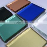 Coated golden yellow film sliver film bronze film Solar Reflective Glass accredit ISO9001&CE certificate