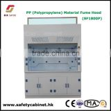 SAFOO Polypropylene ducted PP Chemical Fume Hood cupborad for Laboratory acid corrrosive chemicals test                                                                         Quality Choice