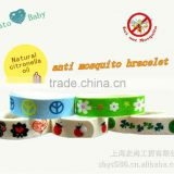 Deet free mosquito repellet bracelet/wristband with 2015 newest customized patterns