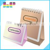 2016 Destop full color Custom Made Top Level New Style Table Calendar Printing