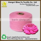 Factory price high quality cone tube open end blended yarn regenerated cotton polyseter carpet yarn