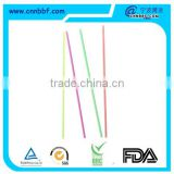 party supply straight long and thin colorful drinking straw
