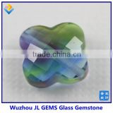 Four-leaf Flower Glass Stone Pendant For Making Necklace And Bracelet Jewelry