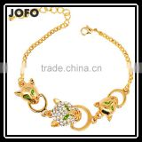 18k Real Gold Plated Austrian Rhinestone Crystal Elements Luxury Leopard Head Jewelry Bracelets