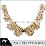 Flower Neck Design Necklace Type Double Collar For Ladies Dress
