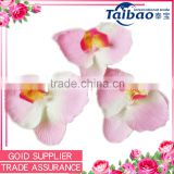 Wholesale artificial pink butterfly orchid head flower for wedding wrist corsage