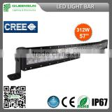 57inch 312W Curved LED light bar 104pcs*3W intensity Chip DRCLB312-C