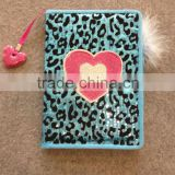 Cute Flocked Journal Notebook with Pen with PVC Bookmark