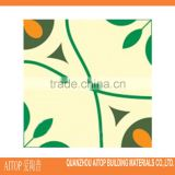 Green flower design cement floor tile for natural design home decor 200x200mm size brick panel cement materials handmade