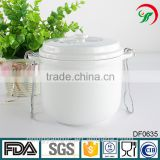 China suppliers wholesale soup tureen, white ceramic stew pot with lid