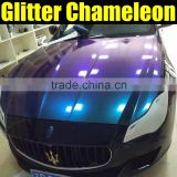 Chameleon pearlized diamond vinyl film for car wrapping with air free bubbles 1.52*20m per roll