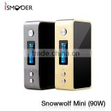 Snow wolf mini 90w Vape features high quality body construction with its beautiful glass paneled body and magnetic battery door